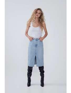 Denim Midi Skirt New Intrf by Zara