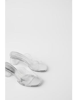 Geometric Heeled Vinyl Sandals Bagswoman Shoes & Bags by Zara