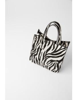 Animal Print Leather Mini Tote Bag New Intrf by Zara
