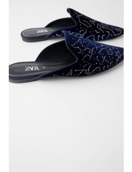 Velvet Constellation Mules New Intrf by Zara