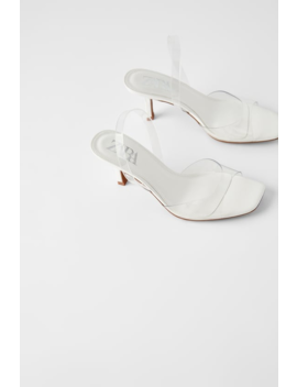 High Heeled Vinyl Sandals Heeled Sandals Shoes Woman by Zara