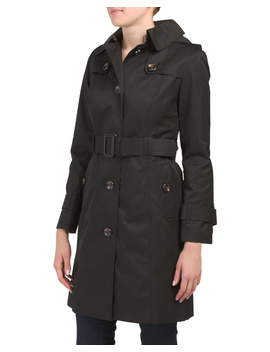 Petite Hooded Trench Coat by Tj Maxx