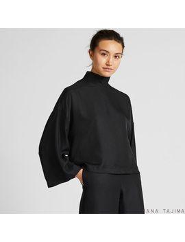 Women Hana Tajima Silk Blend Long Sleeved Blouse by Uniqlo
