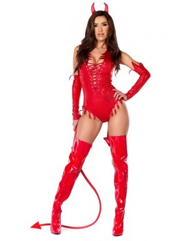 Sizzle Red Hot Sexy Devil 3 Piece Costume by Ami Clubwear