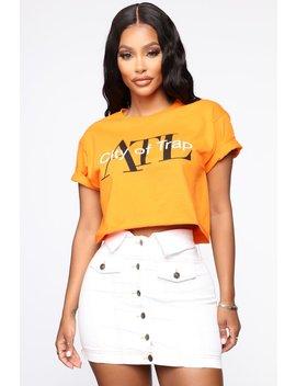 Atl City Of Trap Crop Top   Orange by Fashion Nova