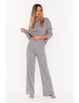 Take Knit Off Jumper And Trousers Lounge Set by Nasty Gal