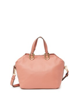 Plum Leather Satchel by Vince Camuto