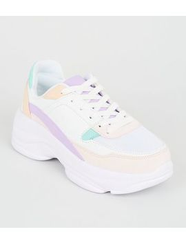 Girls Multicoloured Chunky Trainers by New Look