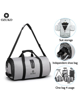 Ozuko Multifunction Men Travel Bag Large Capacity Waterproof Duffle Bag Suit Storage Hand Bag Trip Luggage Bags With Shoe Pouch by Ali Express.Com