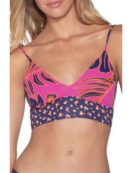 Hibiscus Day Dream Longline Bikini Top by Maaji