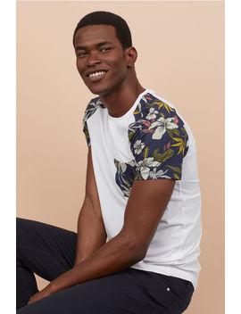 Тениска с десен Muscle Fit by H&M