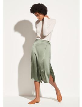 Satin Drape Panel Skirt by Vince