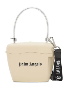 Logo Printed Top Handle Bag by Palm Angels