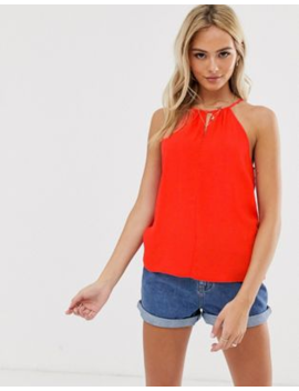 Pimkie – Neckholder Bluse In Rot by Asos