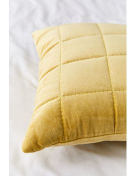 Quilted Grid Velvet Throw Pillow by Urban Outfitters