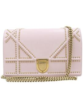 Flap Small Light Pink Calfskin Leather Shoulder Bag by Dior