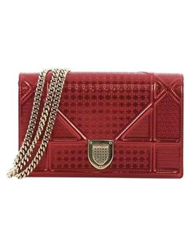 flap-diorama-cannage-embossed-small-red-calfskin-shoulder-bag by dior