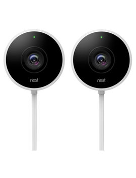 Google Nest Wi Fi Outdoor 1080p Ip Camera   2 Pack   White by Best Buy