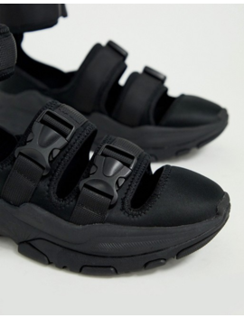 Asos Design Sneaker Sandals In Black With Chunky Sole by Asos Design