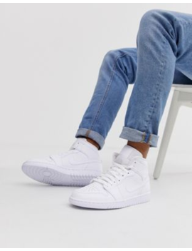 Nike Air Jordan Mid Sneakers In White by Jordan