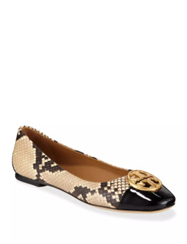 Chelsea Cap Toe Ballet Flats by Tory Burch