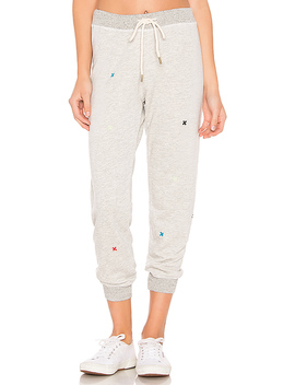 The Cropped Sweatpant In Heather Grey by The Great