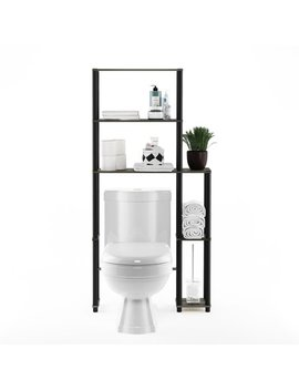 Furinno 17050/Gyw/Bk Turn N Tube Toilet Space Saver With 5 Shelves by Furinno