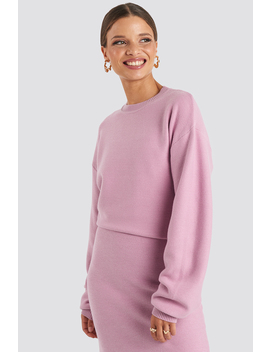 Knitted Oversized Sweater Pink by Emiliebritingxnakd