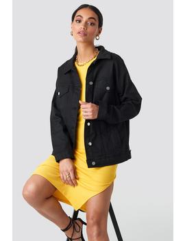 Oversized Denim Jacket Black by Hossxnakd
