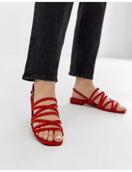 Vagabond Becky Tangerine Suede Slingback Sandals by Vagabond