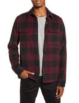 X Alex Costa Brushed Flannel Snap Up Plaid Shirt Jacket by Bp.