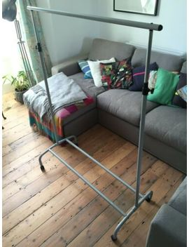 Grey Clothes Rail, Ikea, Adjustable With Shoe Rack, Collection Only by Ebay Seller