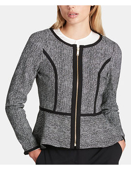Zippered Peplum Blazer by General