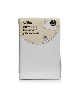 Wilko Easy Care White Housewife Pillowcases 2 Pack Wilko Easy Care White Housewife Pillowcases 2 Pack by Wilko