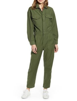 Marta Long Sleeve Cotton Twill Utility Jumpsuit by Citizens Of Humanity