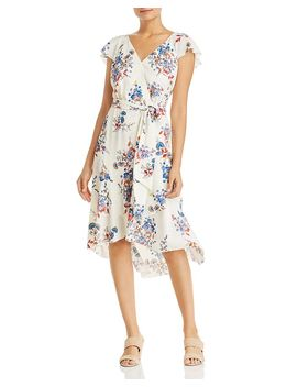 Ryder Floral Faux Wrap Dress   100 Percents Exclusive by Elie Tahari