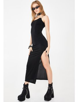 Fitted O Ring Midi Dress by Another Reason