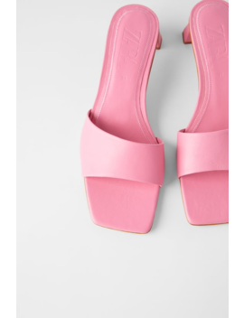 Mid Heel Leather Slides View All Shoes Woman by Zara