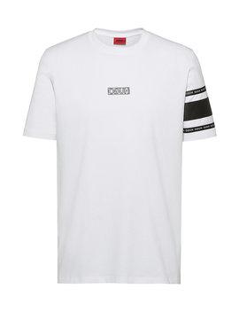 T Shirt Aus Baumwoll Jersey Mit Reversed Logo by Boss