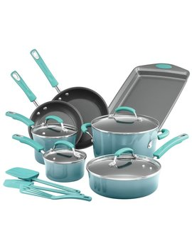 14 Piece Aluminum Non Stick Cookware Set by Rachael Ray