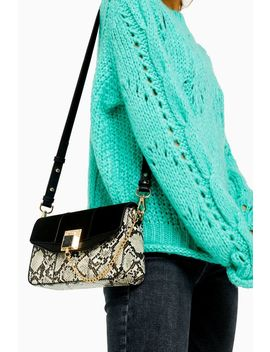 Crissy Snake Print Chain Cross Body Bag by Topshop