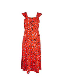 **Maternity Red Ditsy Print Dress by Dorothy Perkins