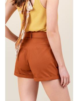 Jessica Button Front Shorts by Francesca's