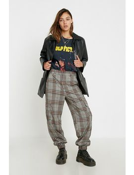 Uo Rust Check Utility Jogger Trousers by Urban Outfitters