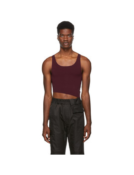 Purple Knit Half Tank Top by Dsquared2