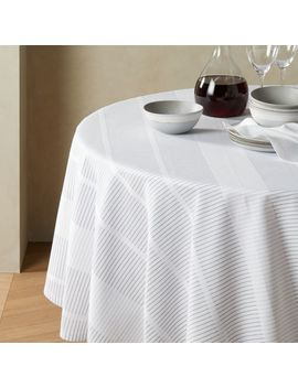 Modern Stripe Round Tablecloth by Crate&Barrel