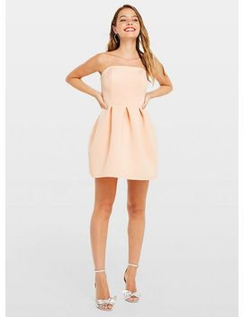 Petite Nude Bandeau Prom Dress by Miss Selfridge