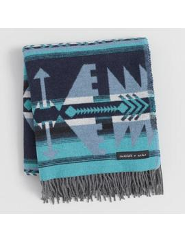 Sackcloth & Ashes Teal, Gray And Blue Arrow Throw Blanket by World Market