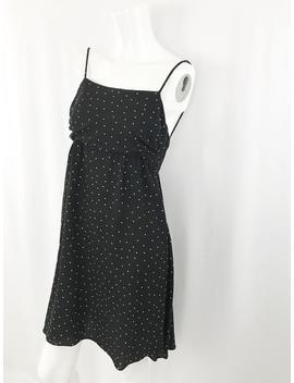 90s Valentino Polka Dot Dress || Vintage Babydoll Slip Dress || Open Back Mini Dress || Small by Etsy