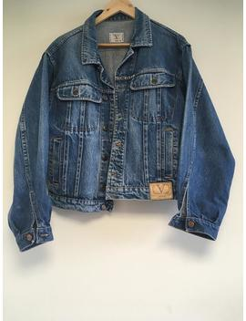 Valentino Vintage Authentic Made In Italy Denim Jacket Unisex by Etsy